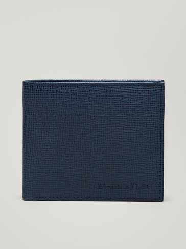 TWO-TONE EMBOSSED LEATHER WALLET