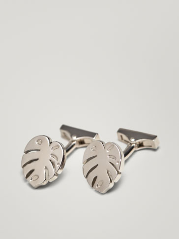 MONSTERA DETAIL CUFFLINKS