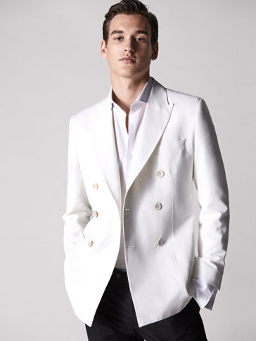 LIMITED EDITION DOUBLE-BREASTED LINEN-COTTON BLAZER
