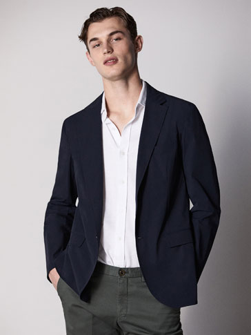 SLIM FIT TECHNICAL BLAZER