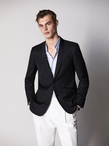 BLAZER DE SMOKING PRETO SLIM FIT