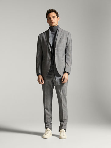 SLIM-FIT RUTETE ULLBLAZER