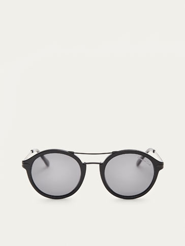 AVIATOR SUNGLASSES WITH MATTE DETAIL