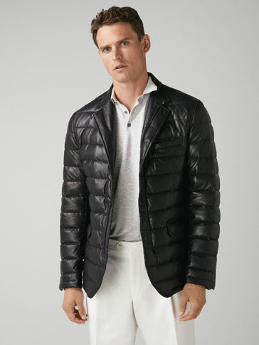 BLACK NAPPA/DOWN JACKET