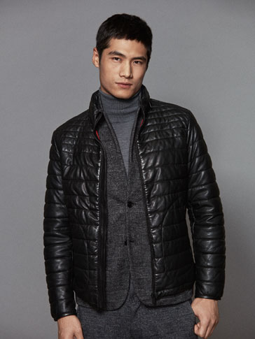 QUILTED NAPPA LEATHER JACKET