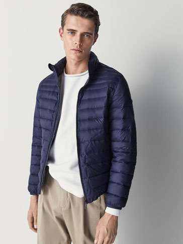 NAVY BLUE DOWN PUFFER JACKET