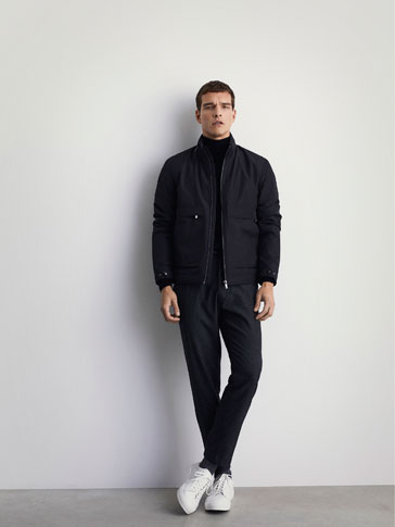 TECHNICAL JACKET WITH LAMINATED DETAIL