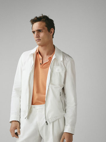 TECHNICAL JACKET WITH ELASTIC HEM