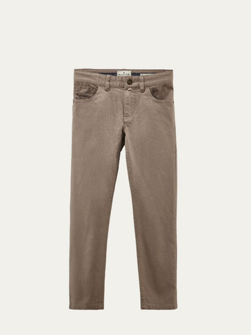 FIVE-POCKET-HOSE IM SLIM-FIT MIT STRUKTURMUSTER
