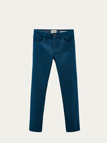 FAUX JEAN TEXTURE SLIM FIT