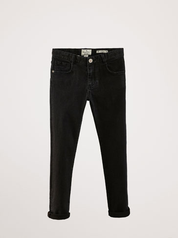 PANTALON EN JEAN NOIR SLIM FIT