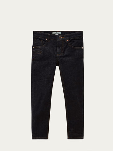 SLIM-FIT JEANS MED LOMMER