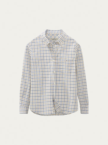 TWO-TONE CHECK SHIRT