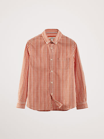 GINGHAM COTTON SHIRT