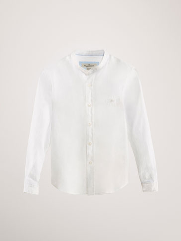 LINEN SHIRT WITH POCKET DETAIL