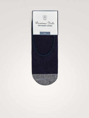 TWO-TONE NO SHOW SOCKS