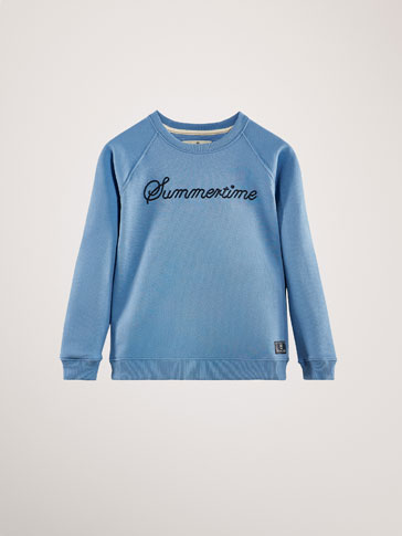 COTTON 'SUMMERTIME' SWEATSHIRT