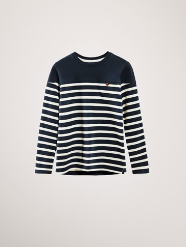 STRIPED COTTON SWEATSHIRT