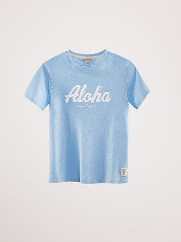 COTTON 'ALOHA' T-SHIRT