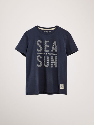 KATOENEN T-SHIRT SEA SUN