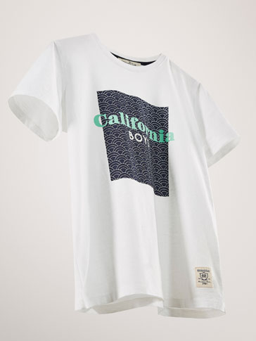 KATOENEN T-SHIRT CALIFORNIA