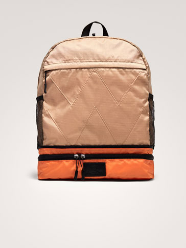 CONTRASTING BACKPACK-BELT BAG