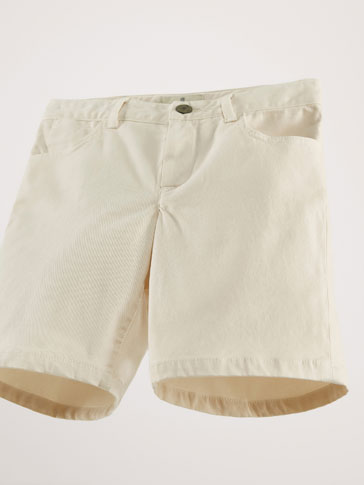 COTTON TWILL BERMUDA SHORTS