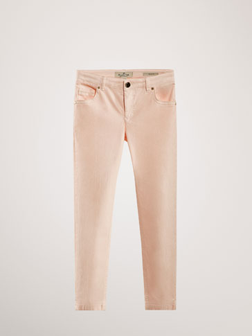 PANTALONI SATIN SLIM FIT
