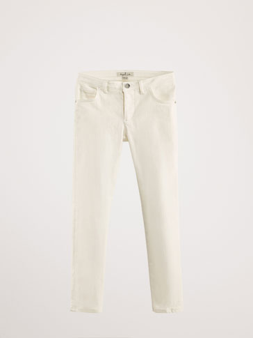 SKINNY TROUSERS WITH SIDE EMBROIDERY DETAIL