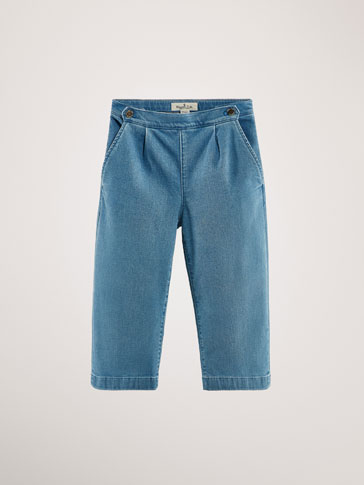 CULOTTE FIT JEANS WITH DARTS