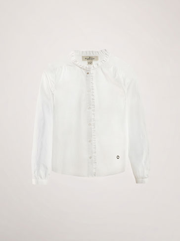 SHIRT WITH RUFFLE DETAIL