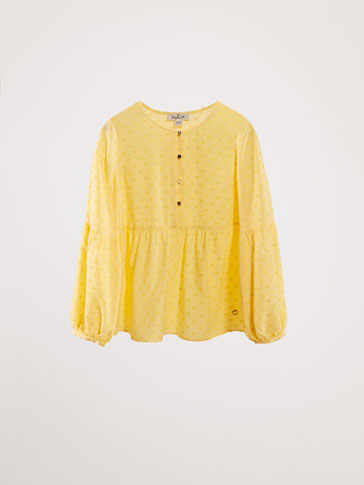 PLUMETIS BLOUSE WITH PUFF SLEEVES