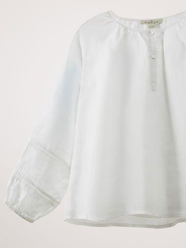 RAMIE SHIRT WITH LACE TRIM DETAIL