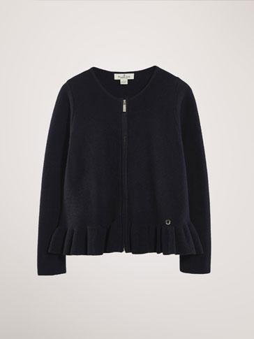 CARDIGAN WITH RUFFLE DETAIL