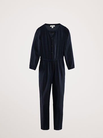 PLAIN JUMPSUIT WITH BOW DETAIL