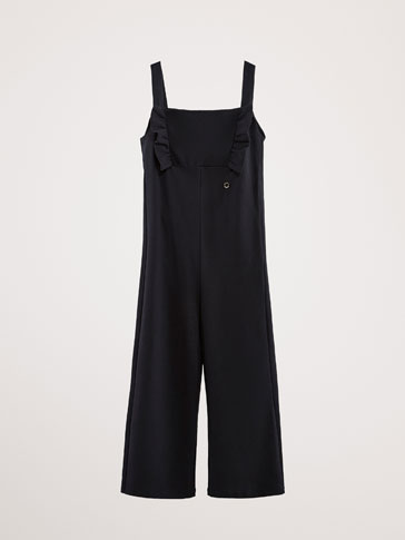 COTTON JUMPSUIT WITH RUFFLES