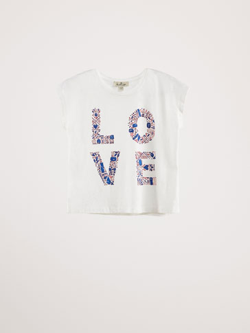 COTTON 'LOVE' T-SHIRT