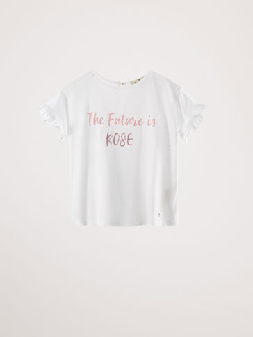 ROSE PAMUKLU T-SHIRT