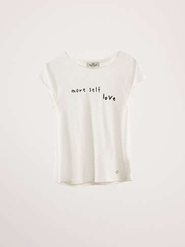 LEINENSHIRT »MORE SELF LOVE«