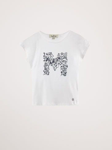 COTTON T-SHIRT WITH PLACEMENT PRINT