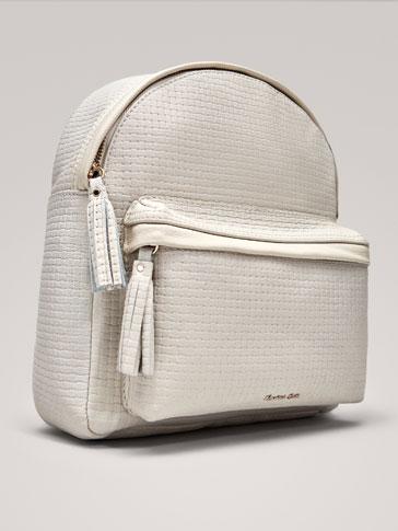 حقيبة ظهر جلدية هيكلية