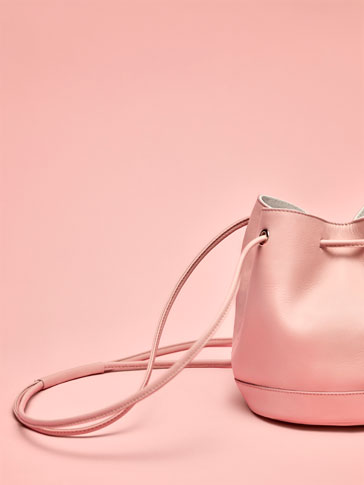 BUCKET BAG PELE ROSA