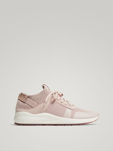CONTRASTING NUDE SNEAKERS