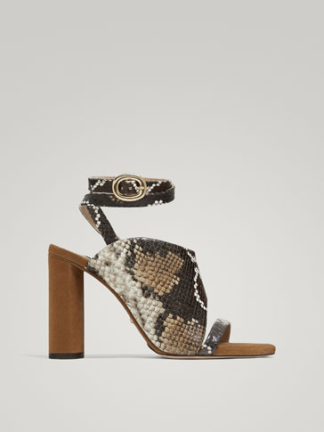 SANDALE DIN PIELE ANIMAL PRINT LIMITED EDITION