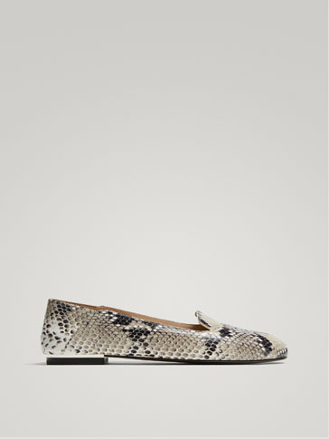 SLIPPER PIEL ANIMAL PRINT