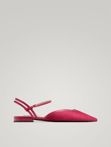 PINK LEATHER BALLERINAS
