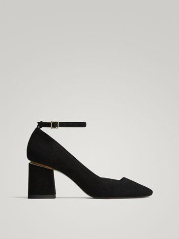 حذاء رسمي جلد سوار أسود