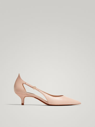 NUDE NAPPA LEATHER COURT SHOES