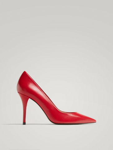 RED NAPPA LEATHER COURT SHOES