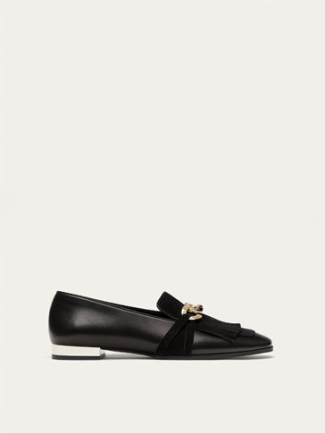 BLACK NAPPA LEATHER LOAFERS